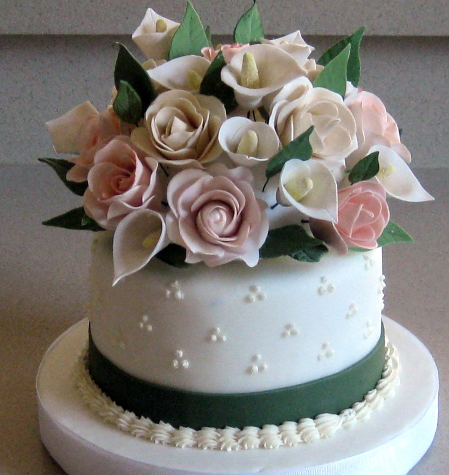 Cake As Canvas Handmade Sugar Flower Wedding Cake Topper