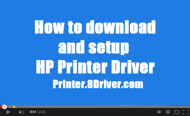 Video step to step installing HP Photosmart D7300 series 4.0.1 Printer driver
