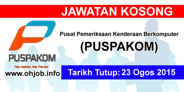 Jawatan Kerja Kosong Puspakom Sdn Bhd logo www.ohjob.info ogos 2015