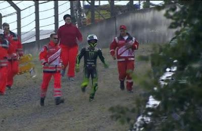 Ganasnya 'Air Terjun' Sachsenring, M1 Pol Hancur Seketika