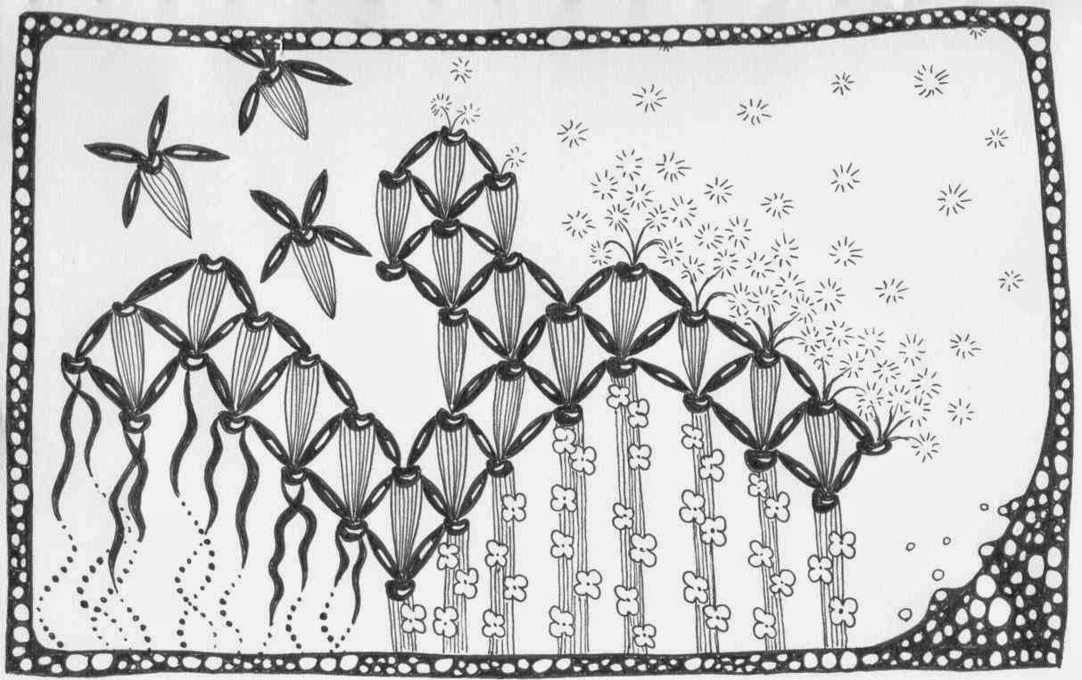 Zentangle featuring bugle, clove and co2