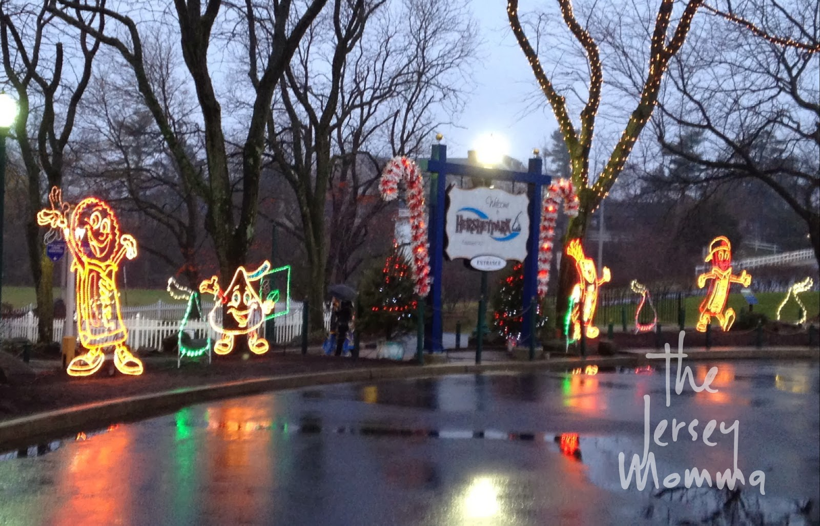 still fun even in the rain - Christmas At Hershey