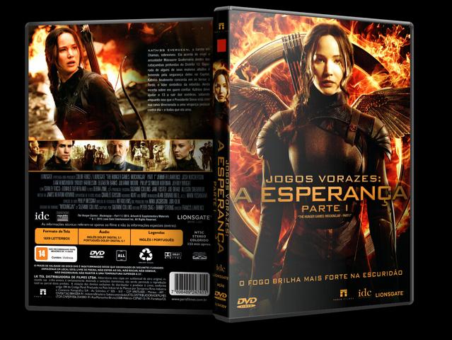 Capa DVD Jogo Vorazes A Esperança Parte 1