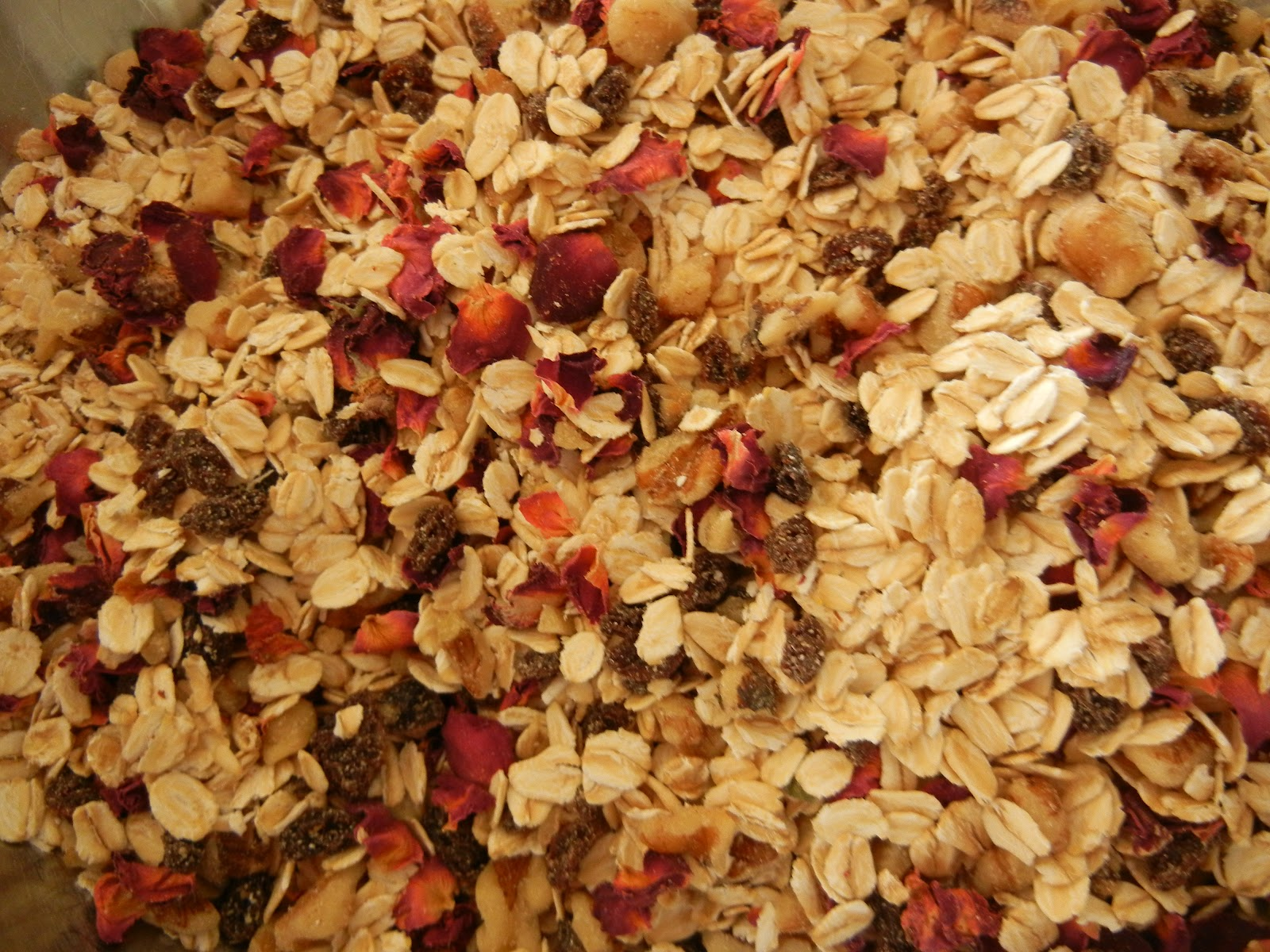 From My Southwest Kitchen: Rose Petal Granola