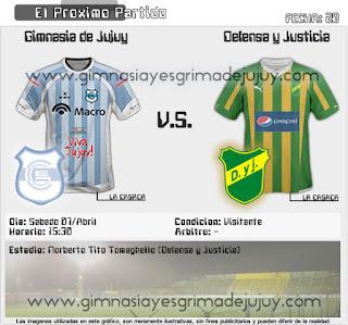Fecha 28: Defensa y Justicia vs Gimnasia de Jujuy