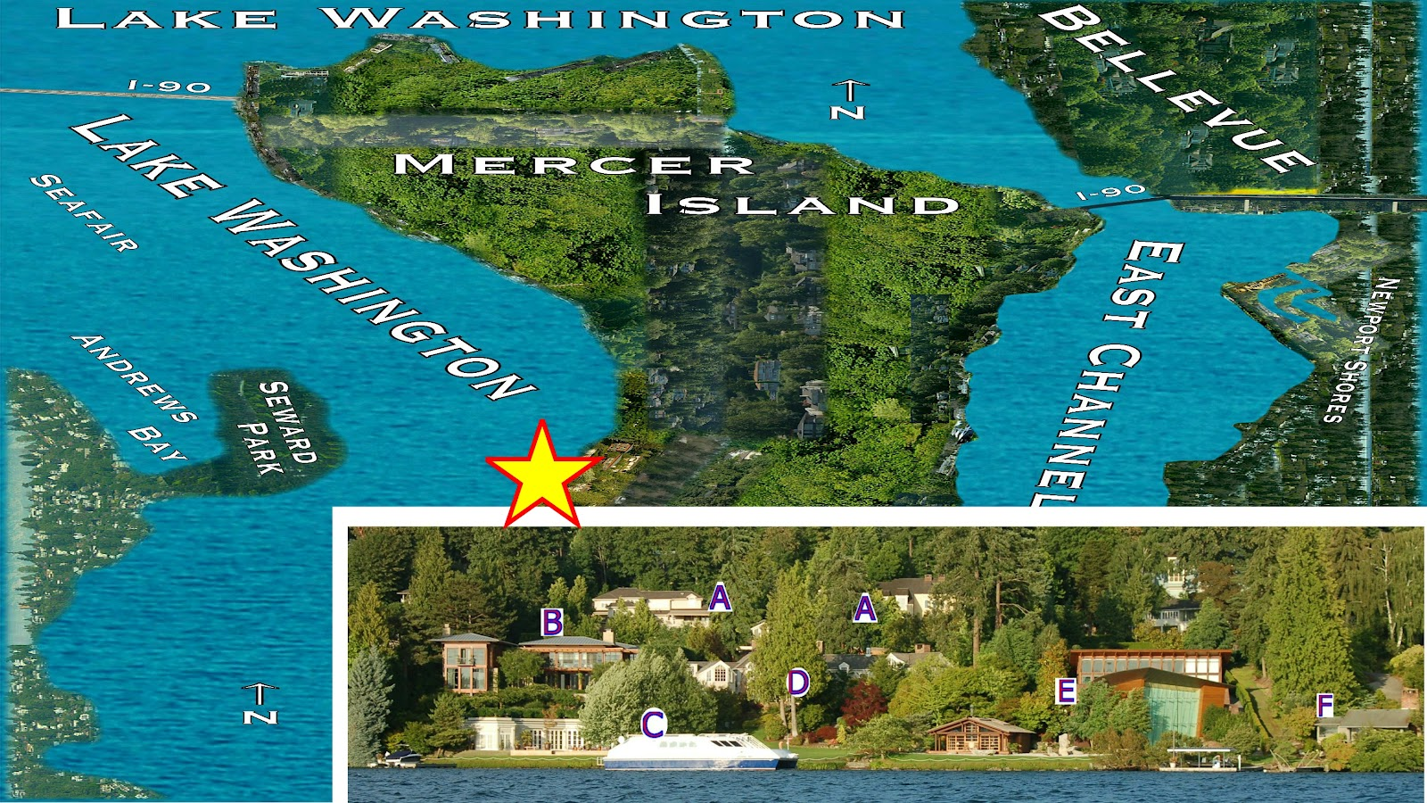 Mercer island luxury waterfront estate idesignarch interior design - Lake Washington Cruising Paul Allen Viewing Mercer Island Campus