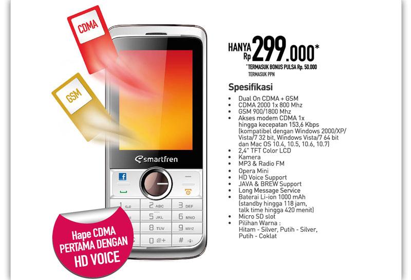 Ponsel dual simcard menjadi strategi baru PT Smartfren Telecom ...