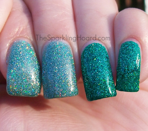 ... : Comparison: Orly Sparkling Garbage vs. Color Club Holiday Splendor