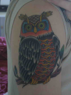 Shoulder Owl Tattoos