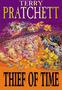 "Cover of ""Thief of Time"", a novel by Terry Pratchett"