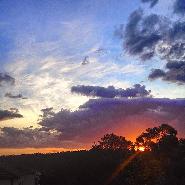 Sunset in Sydney Australia - God showing off
