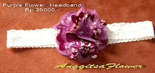 Headband Bayi Bunga Kain