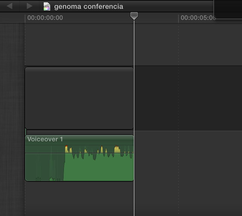 how to seperate audio clip from video in final cut