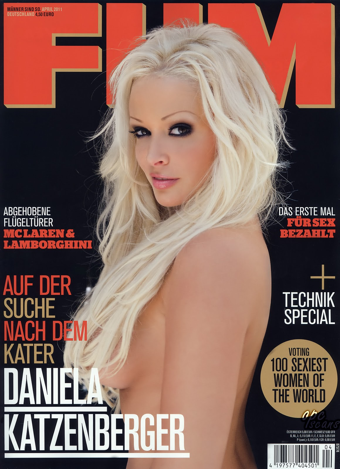 Daniela Katzenberger on FHM, Germany, April 2011