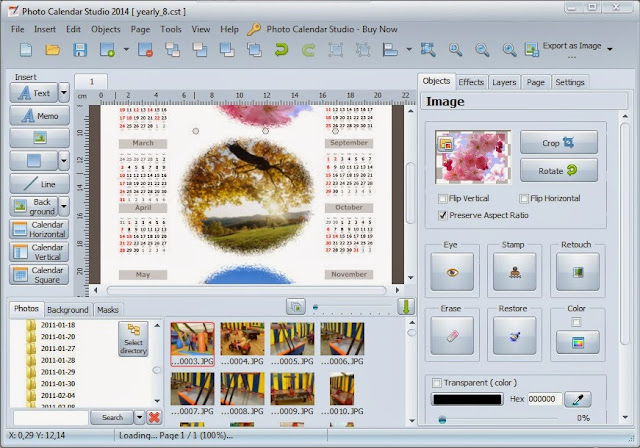 Mojosoft Photo Calendar Studio 2014 Full 1.15 indir