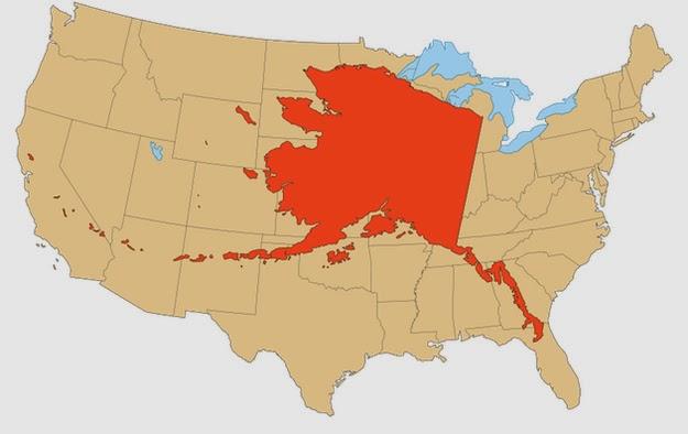 Alaska  X  The Contiguous United States
