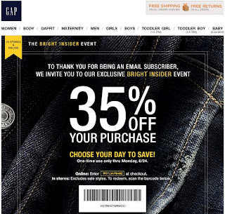 Baby Gap Outlet Coupon Printable