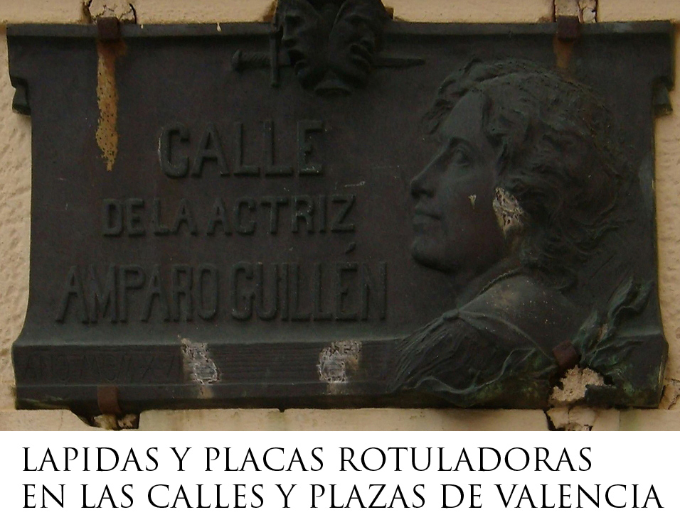 LAPIDAS ROTULADORAS DE CALLES Y PLAZAS EN VALENCIA