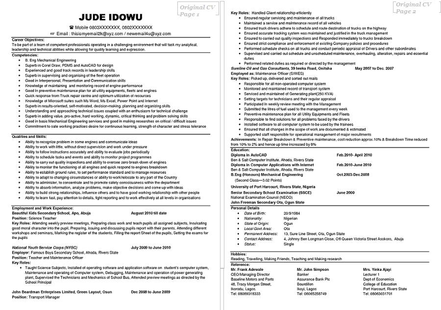 creating a cv cv resume template examples
