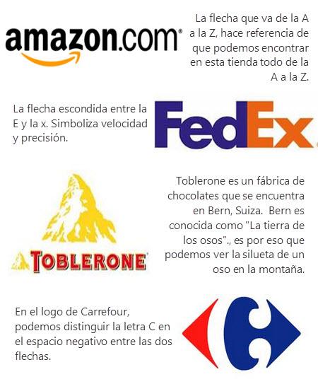 Cuatro ejemplos de logos con mensajes escondidos