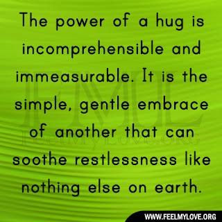 The power of a hug is incomprehensible