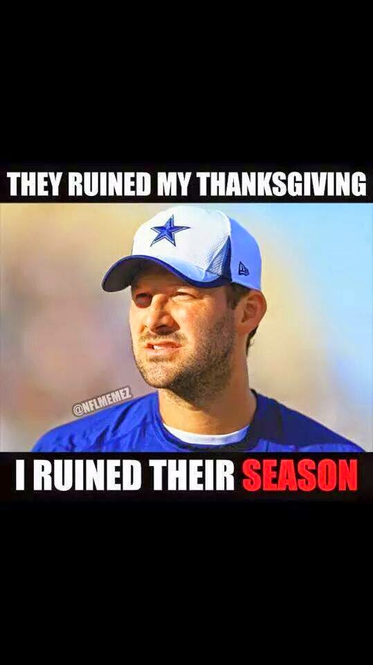 they ruined my thanksgiving I ruined their season