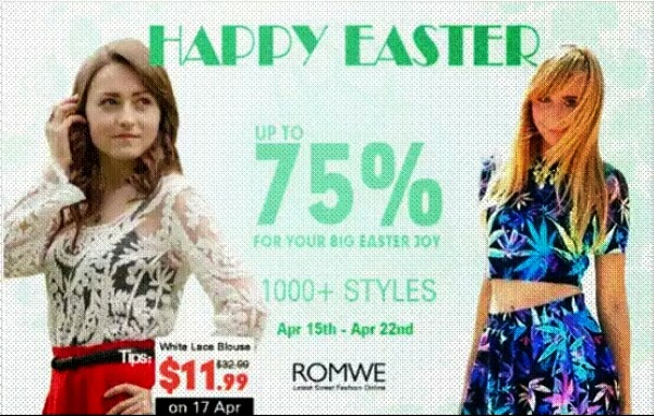 Romwe Happy Easter Sale