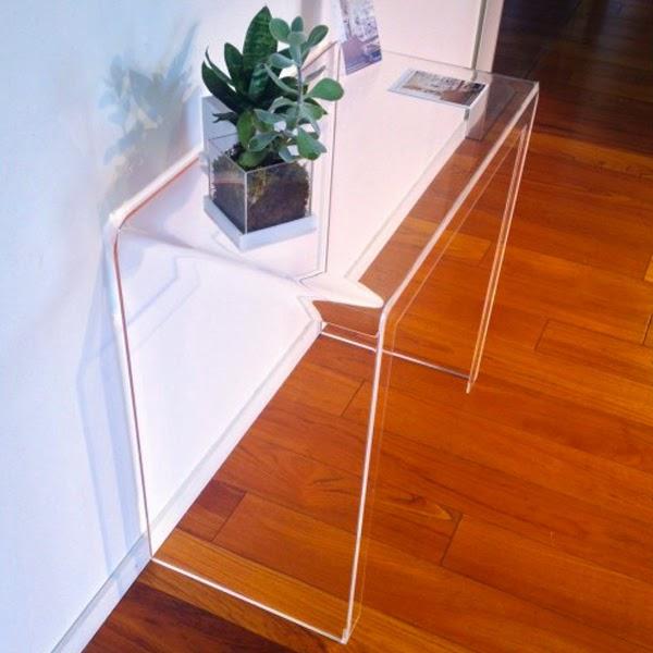 consolle plexiglass ingresso