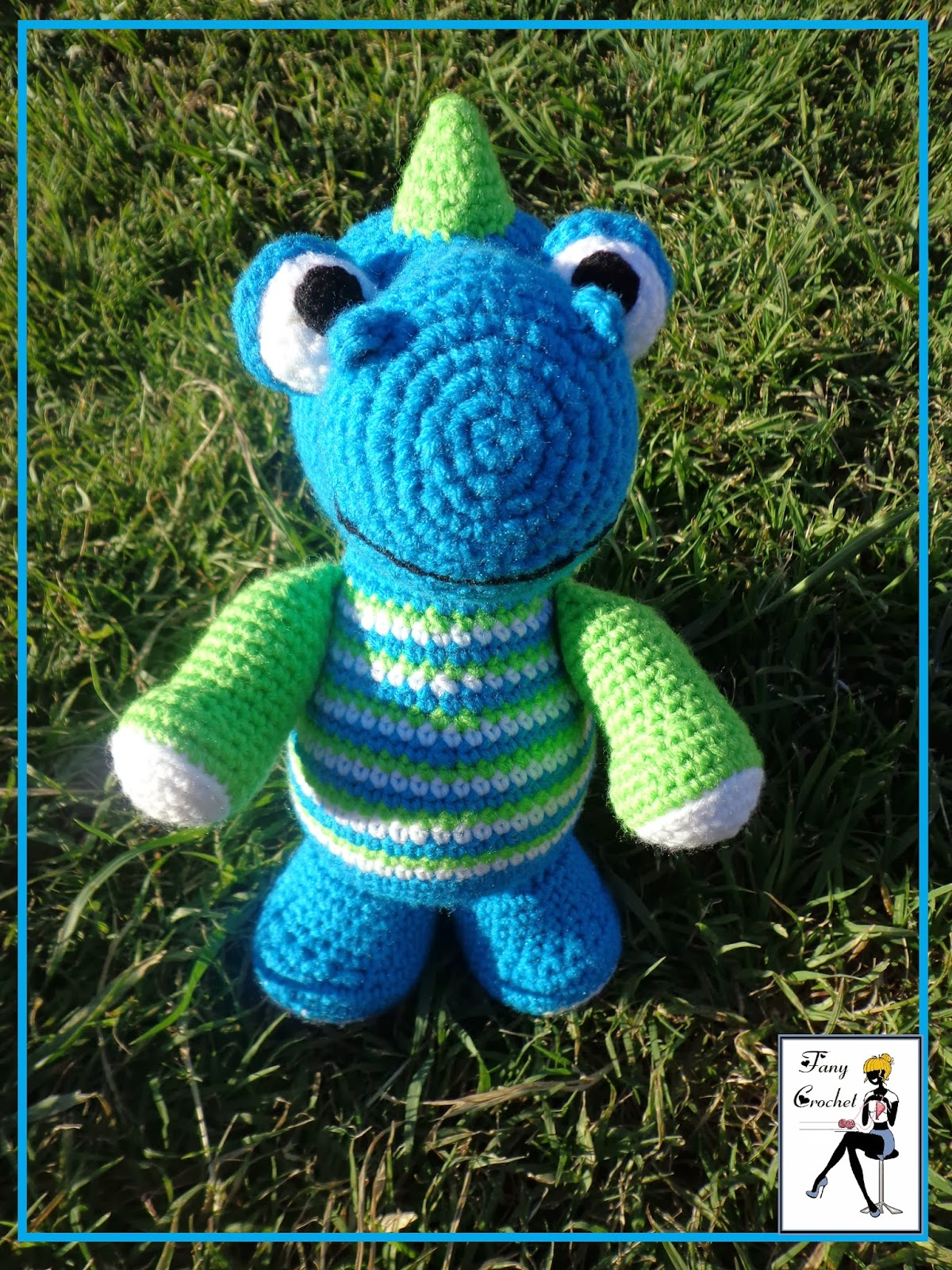 Fany Crochet: Dino Dino Colorido