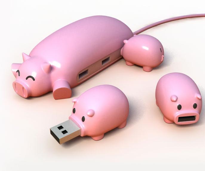 大宅神觀察: 超可愛動物USB HUB