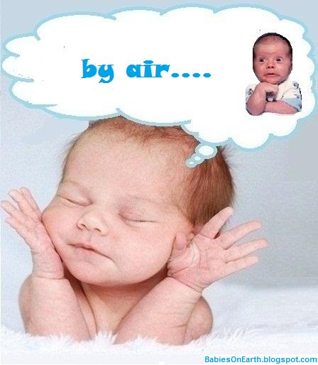 by air