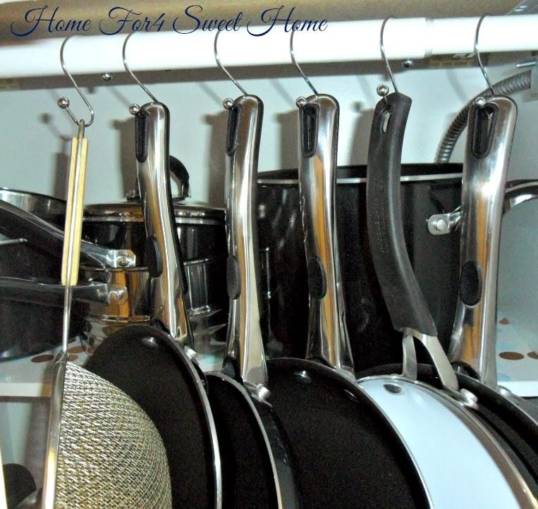 organized pots & pans
