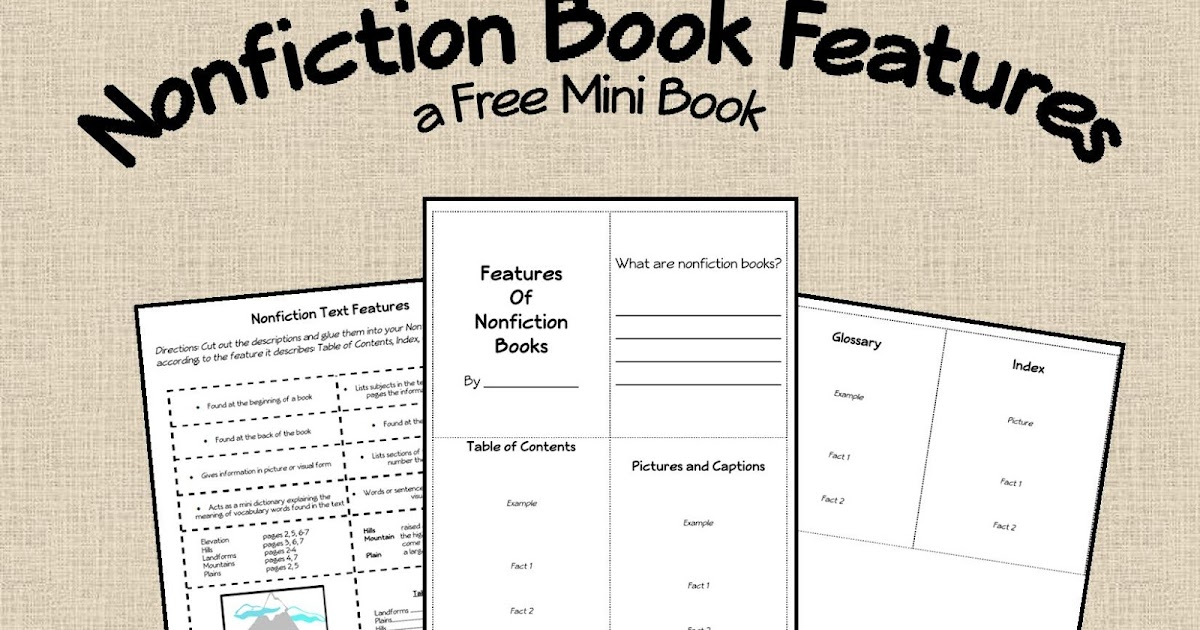 Nonfiction Text Features Worksheet First Grade Free Worksheets – Nonfiction Text Features Worksheet