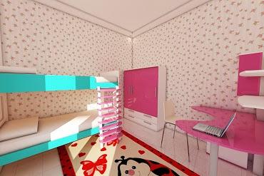Kamar Tidur Anak yang Ceria Lucu dan Warna Warni