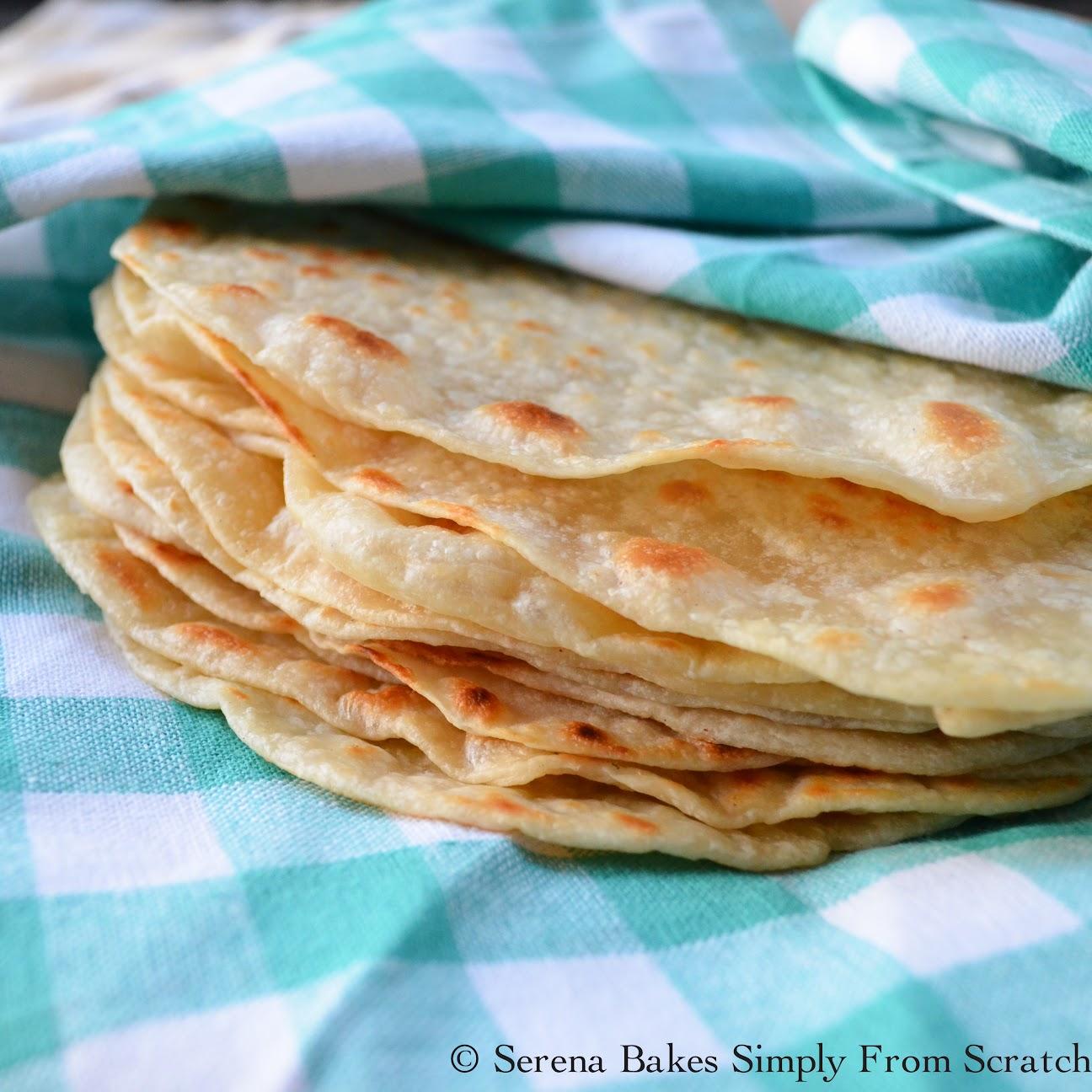 Homemade Soft Flour Tortillas