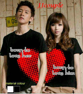 Born to love (hitam) , kaos couple korea