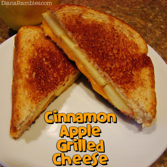 Cinnamon Apple Grilled Cheese - Diana Rambles