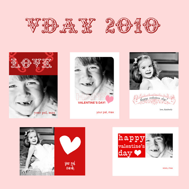 sample of all 5 Valentine Photo Template Roundup