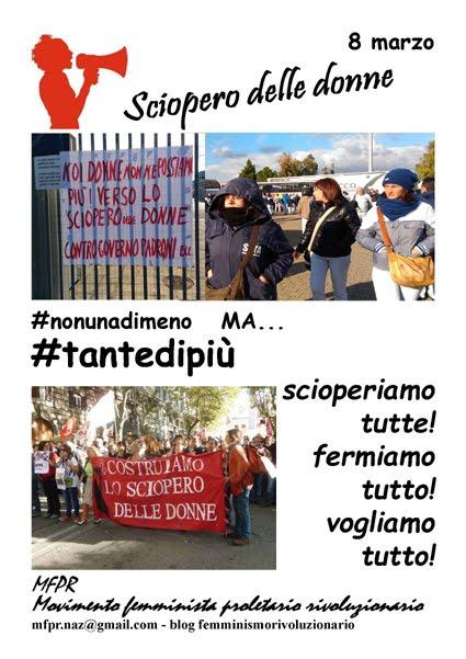 8 marzo 2017 - SCIOPERO DELLE DONNE!