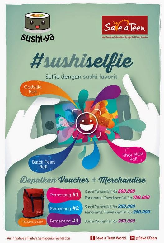 Selfie With Sushi Berhadiah Voucher Makan & Travel Total 2 Juta