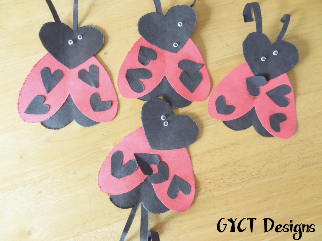 Homemade Ladybugs and Penguin Valentine's Tutorial by GYCT