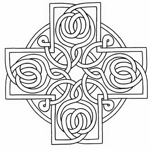 Handy image with printable celtic stencils