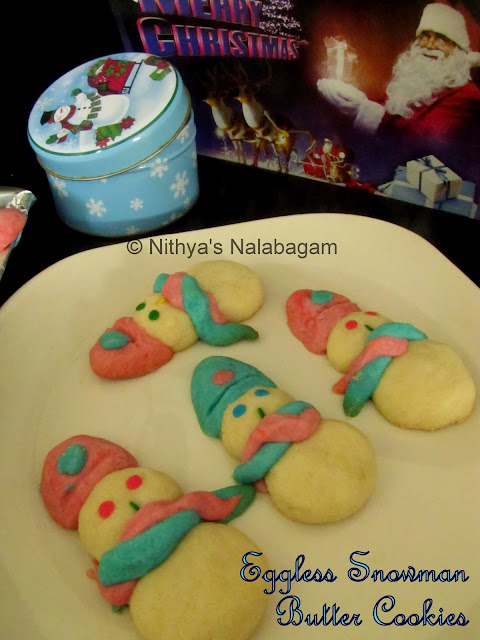 Egg less Snowman Cookies