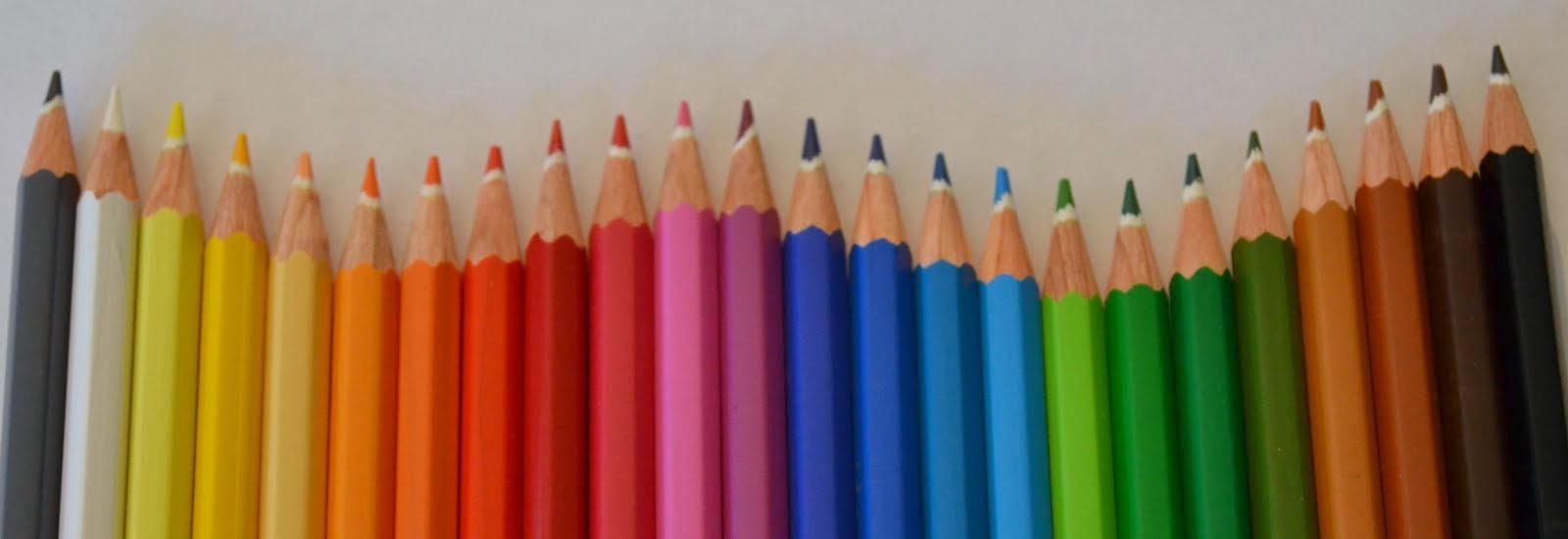 L'arc-en-ciel en crayons
