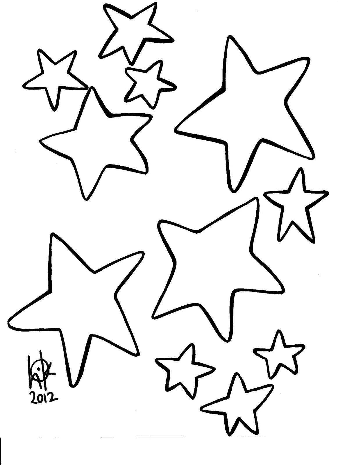 coloring pages for stars - photo#11