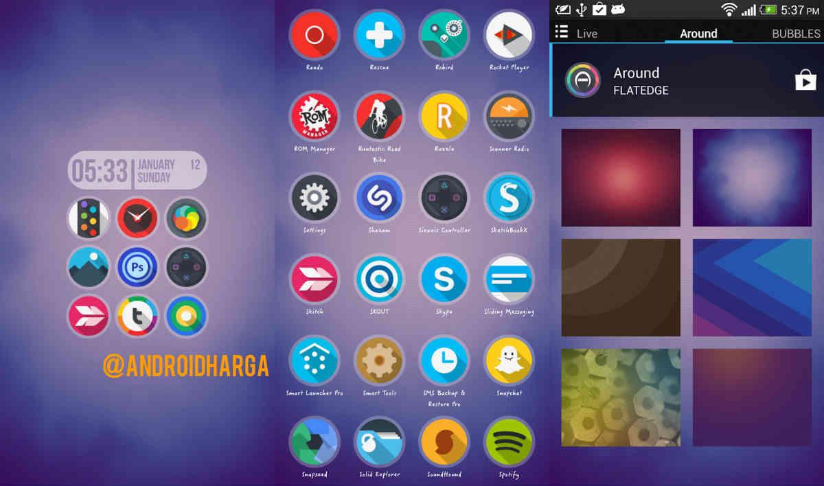 10 Icon Pack Gratis untuk ASUS Launcher