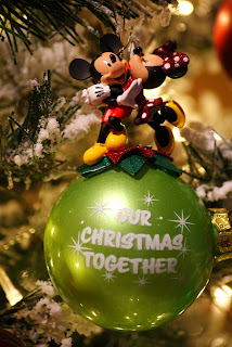 Our Christmas Together - Mickey and Minnie Christmas Ornament