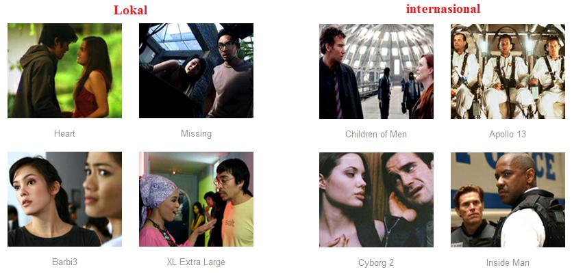 Screenshot pilihan film