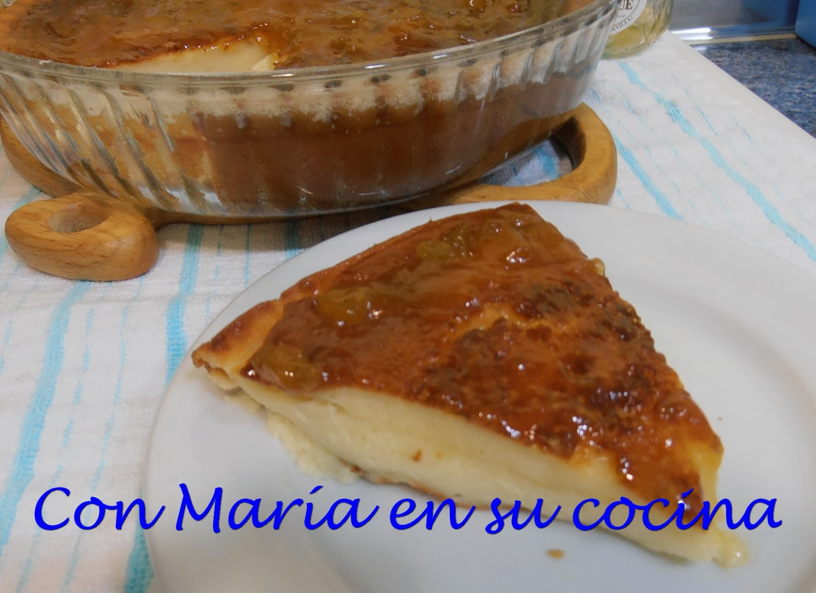 con mar a en su cocina tarta de queso al horno