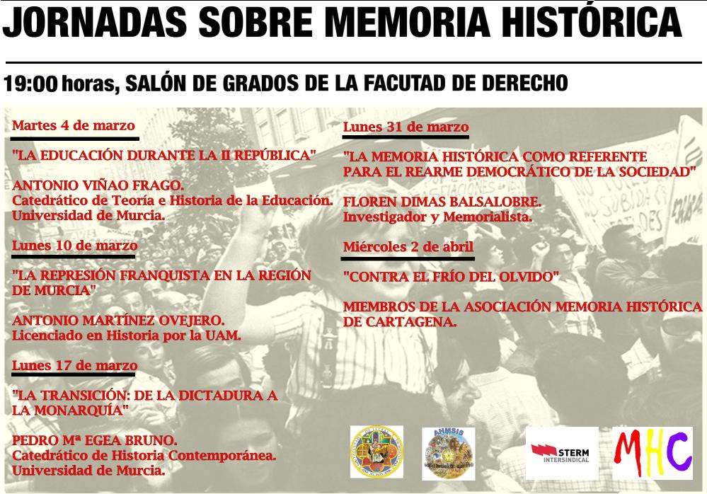 JORNADAS SOBRE MEMORIA HISTÓRICA